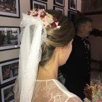 Maquillaje y peinado para novia elegante